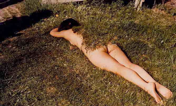 Ana Mendieta Q&Art questions and art feminism, female oppression, female abuse