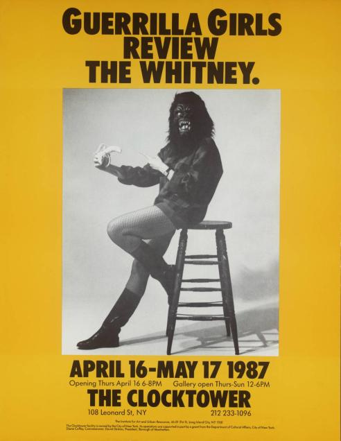 Guerrilla Girls Review The Whitney 1987 by Guerrilla Girls